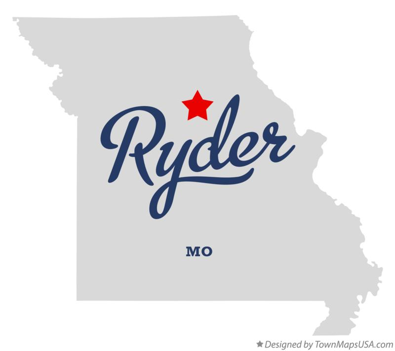 Map of Ryder Missouri MO