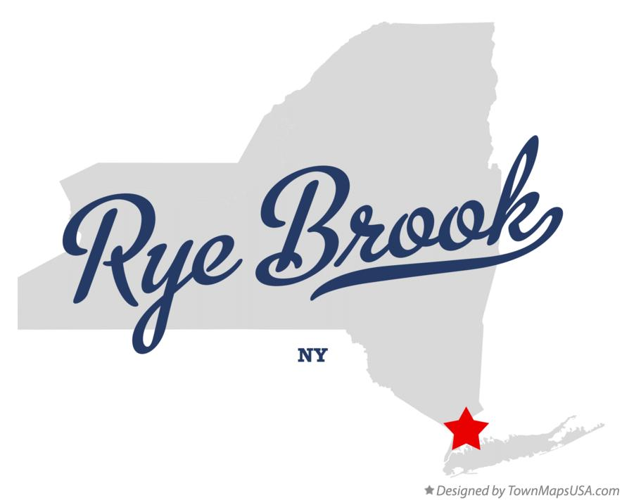 Map of Rye Brook New York NY