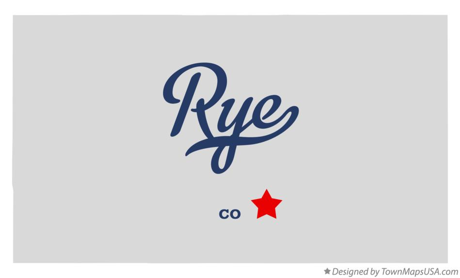 Map of Rye Colorado CO