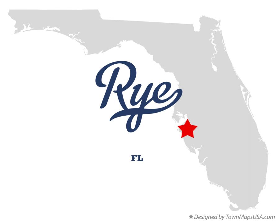 Map of Rye Florida FL