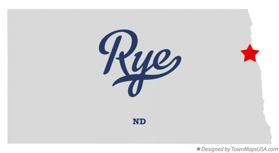 Map of Rye North Dakota ND