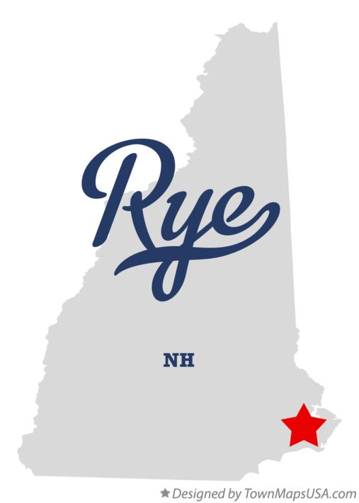 Map of Rye New Hampshire NH