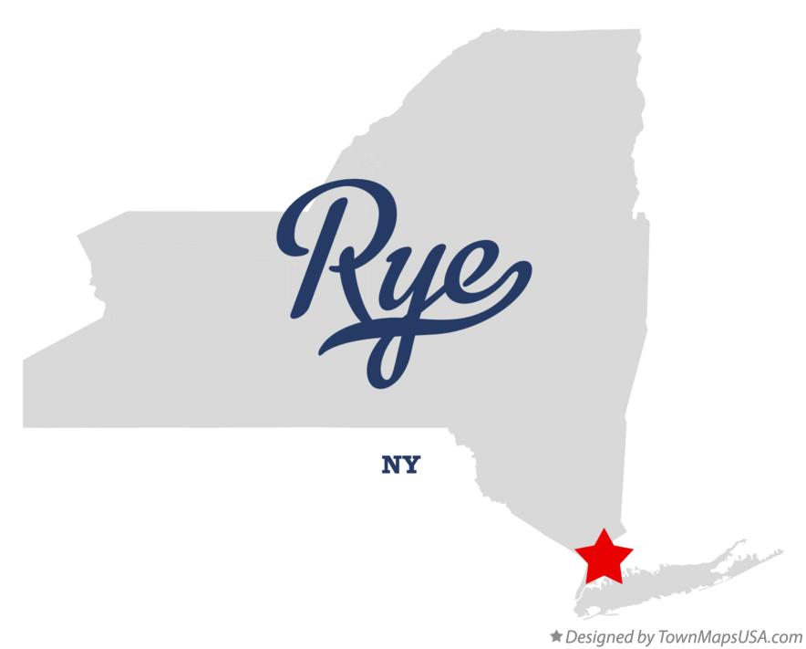 Map of Rye New York NY