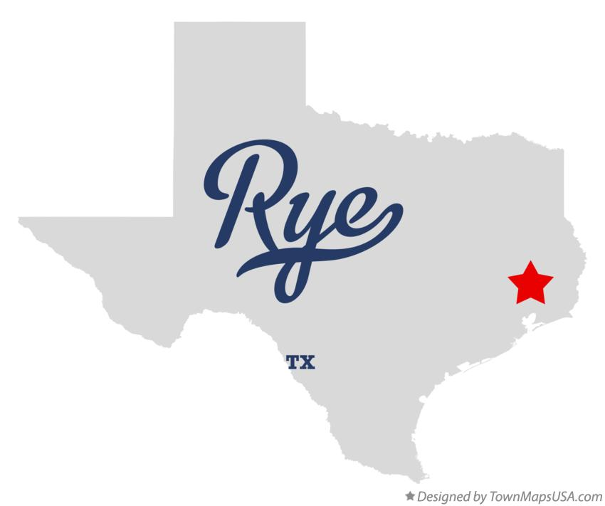Map of Rye Texas TX
