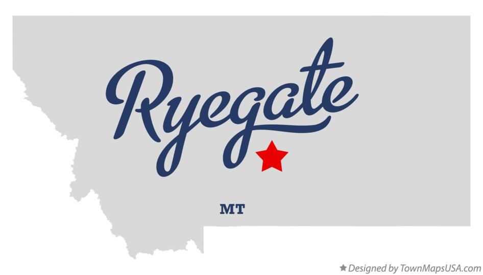 Map of Ryegate Montana MT