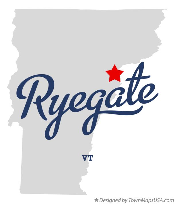 Map of Ryegate Vermont VT