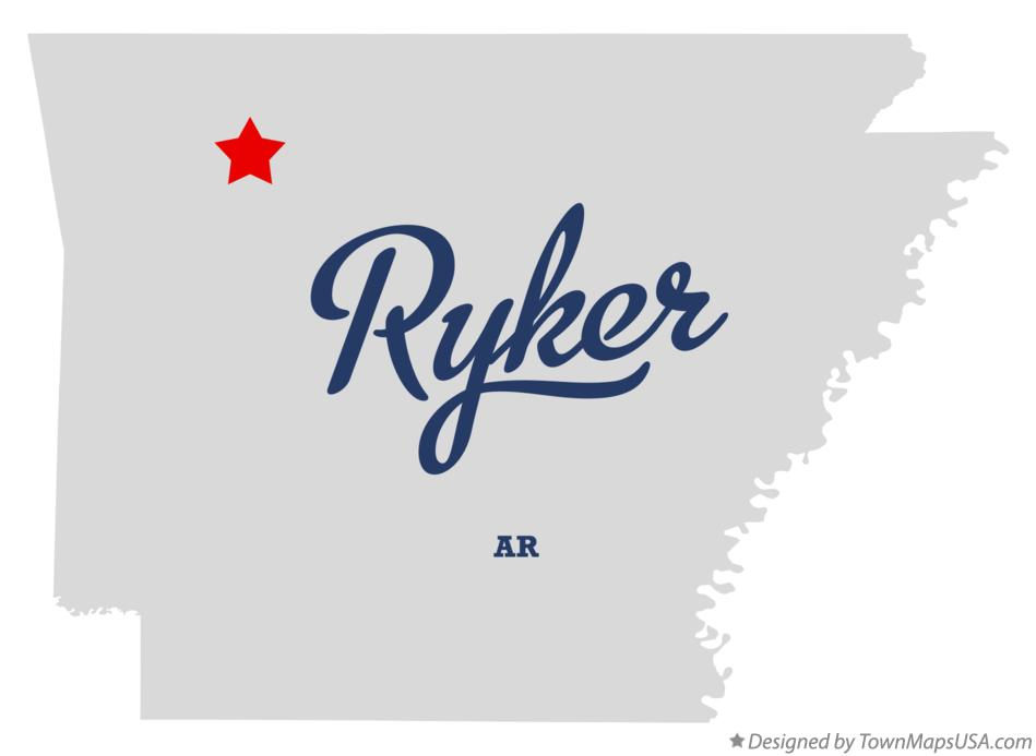 Map of Ryker Arkansas AR