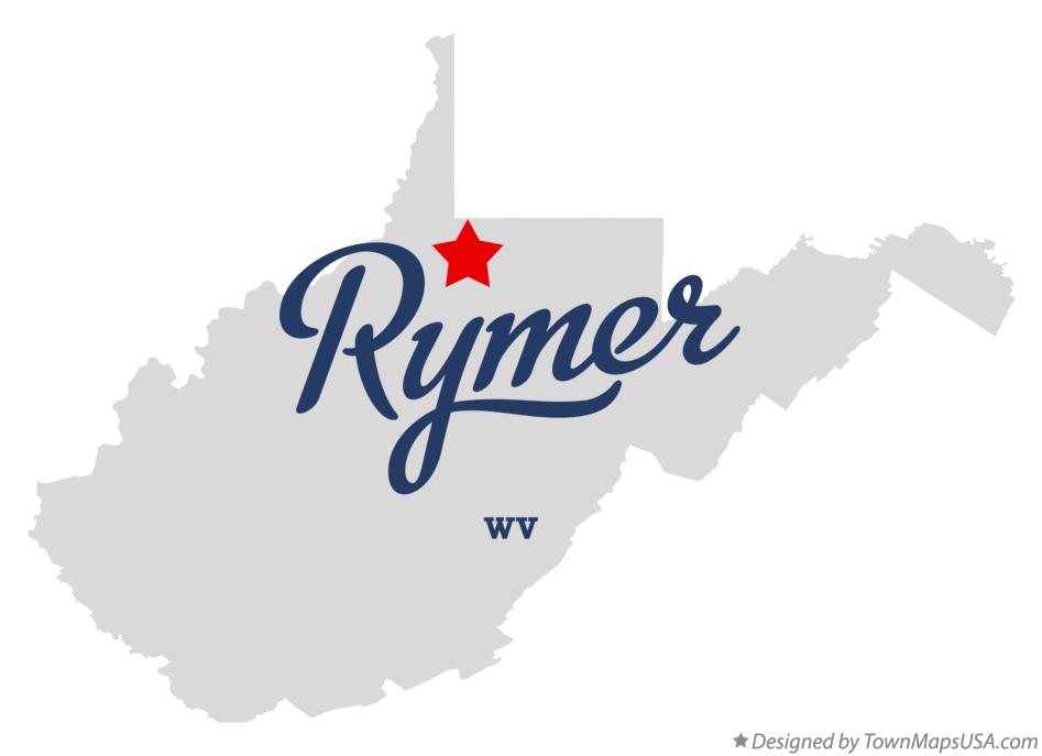 Map of Rymer West Virginia WV