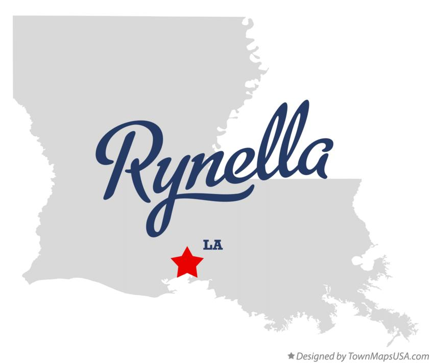 Map of Rynella Louisiana LA