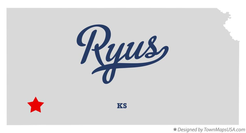 Map of Ryus Kansas KS