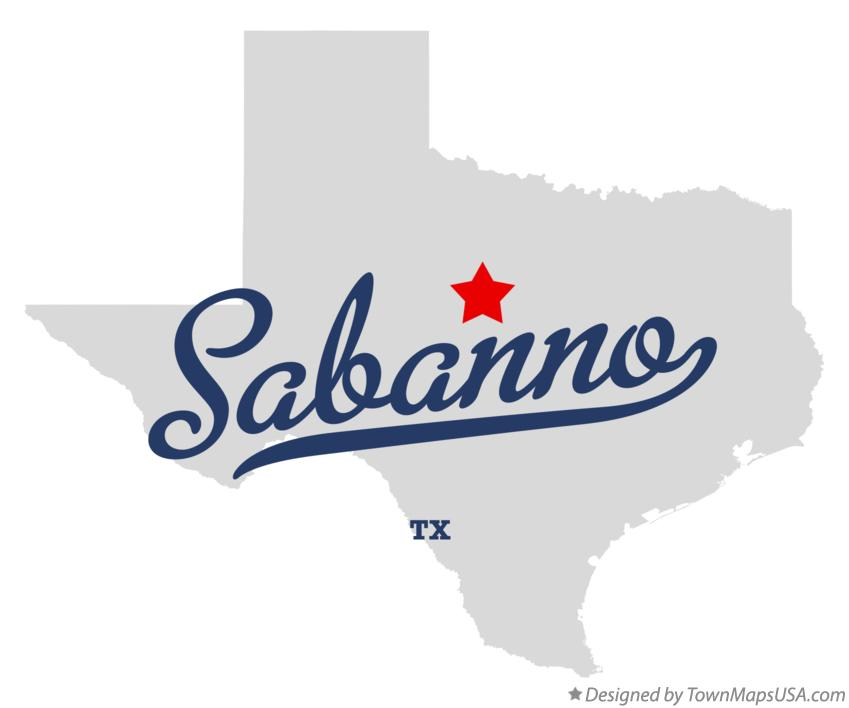Map of Sabanno Texas TX