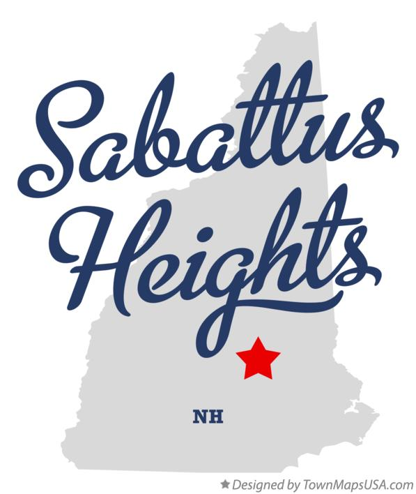 Map of Sabattus Heights New Hampshire NH