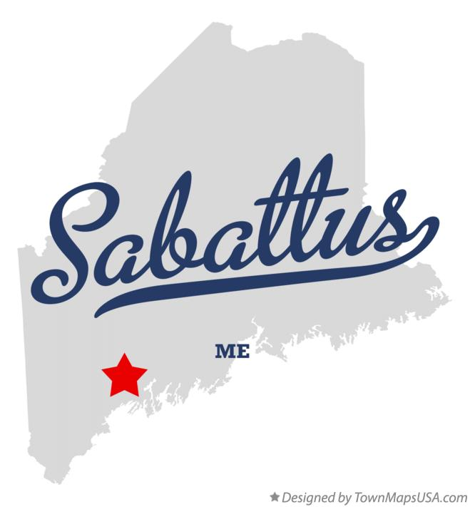Map of Sabattus Maine ME