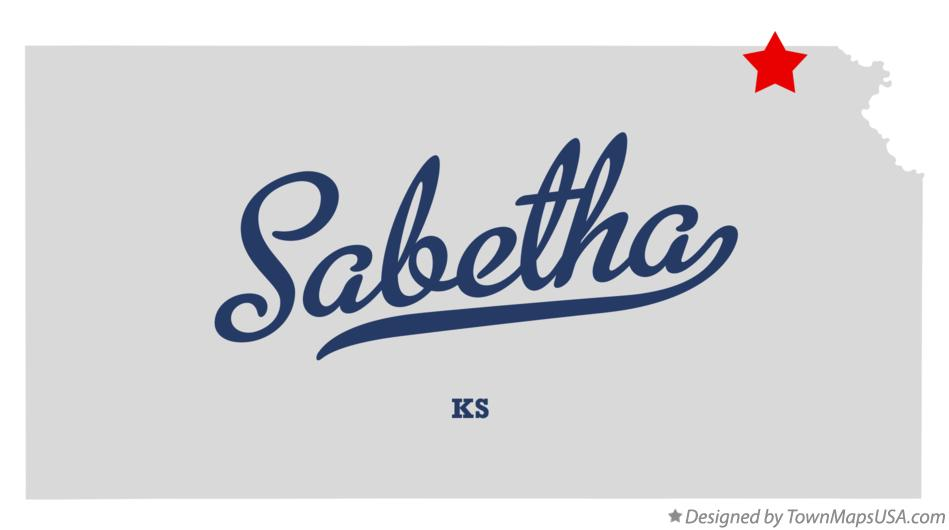 Map of Sabetha Kansas KS