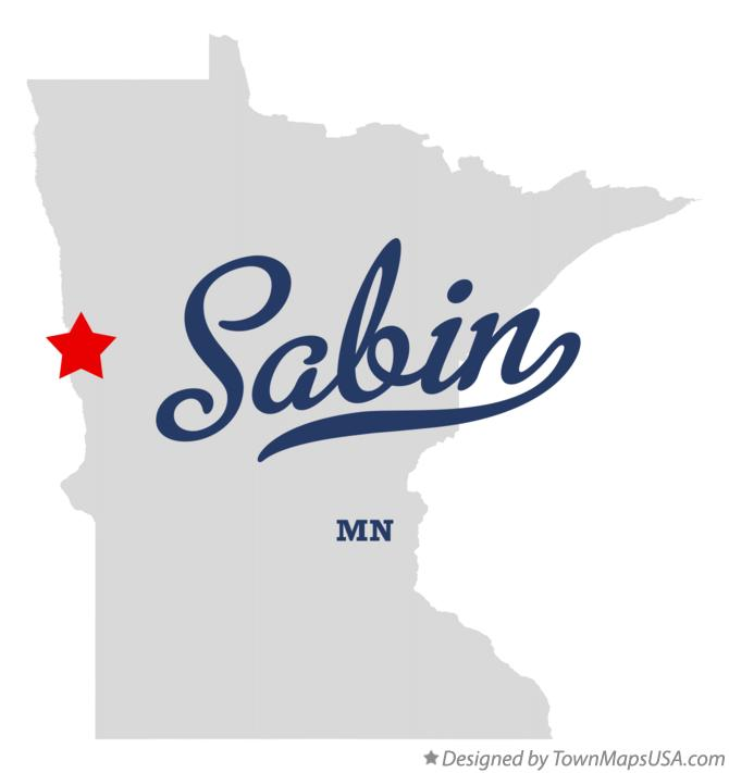Map of Sabin Minnesota MN