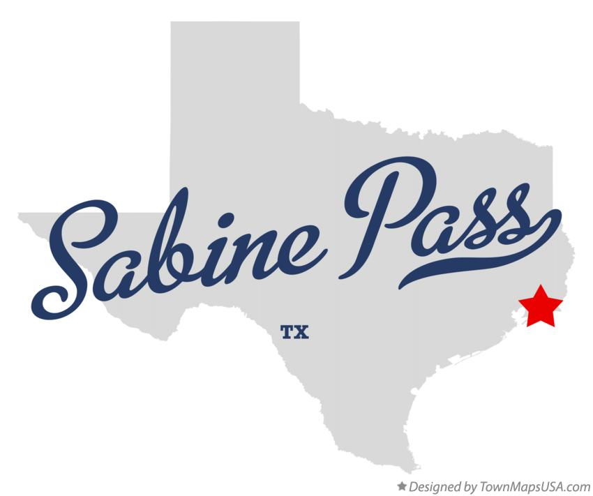Map of Sabine Pass Texas TX