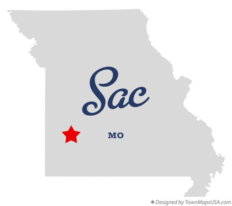 Map of Sac Missouri MO
