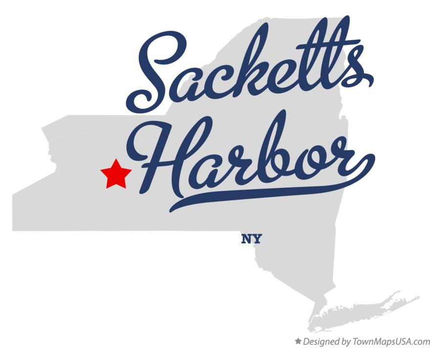 Map of Sacketts Harbor New York NY