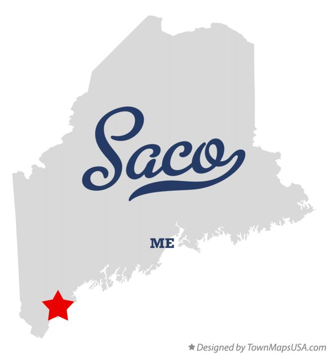 Map of Saco Maine ME