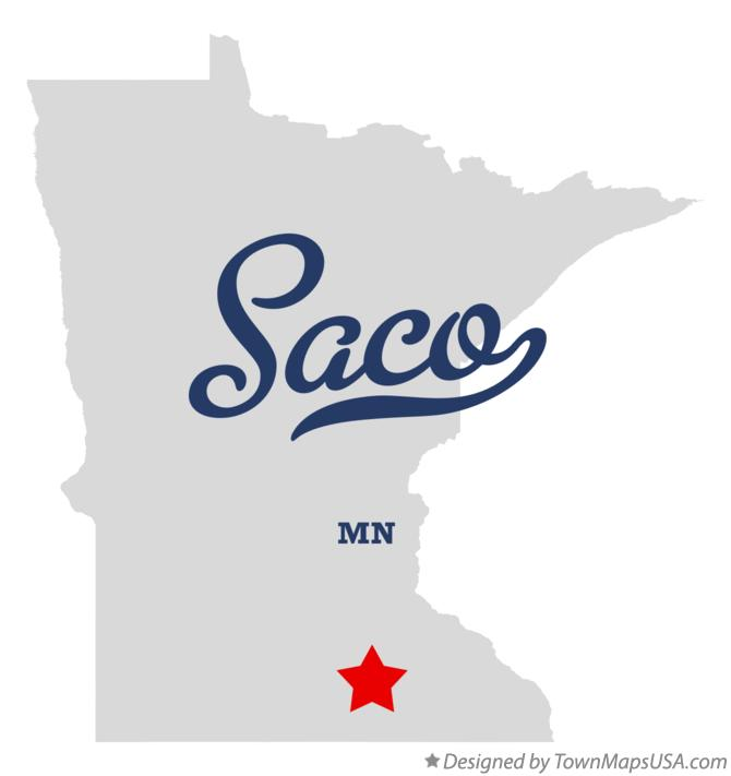 Map of Saco Minnesota MN