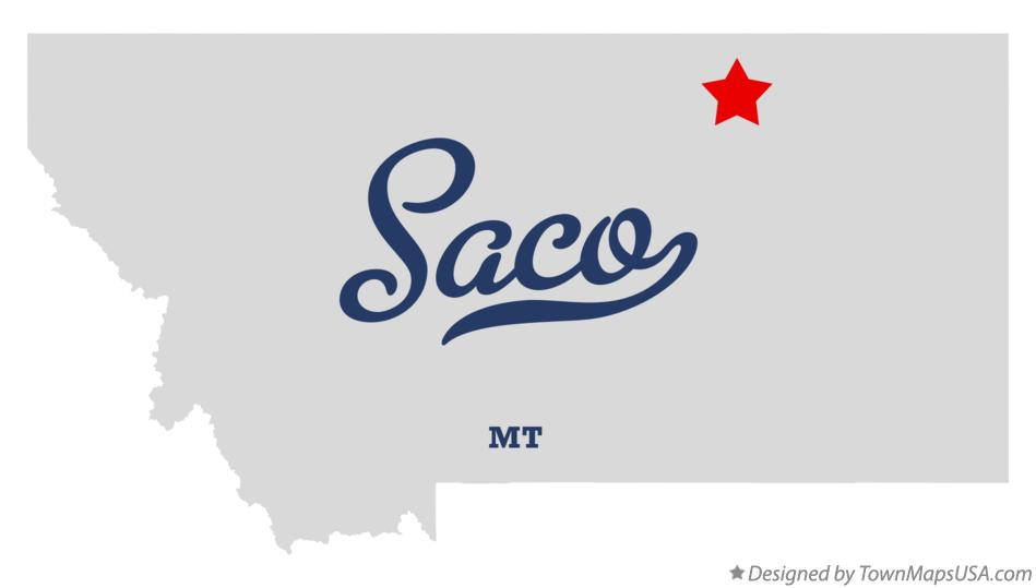 Map of Saco Montana MT