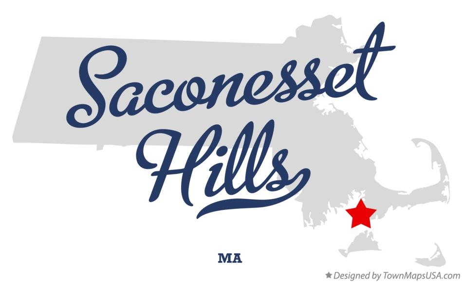 Map of Saconesset Hills Massachusetts MA