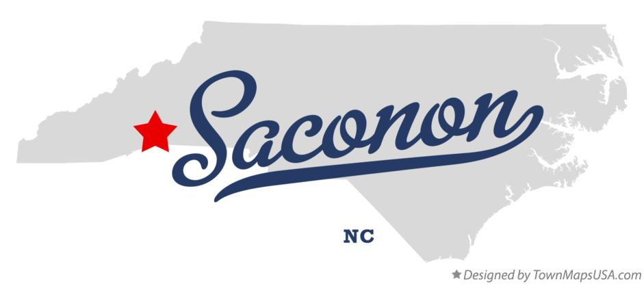 Map of Saconon North Carolina NC