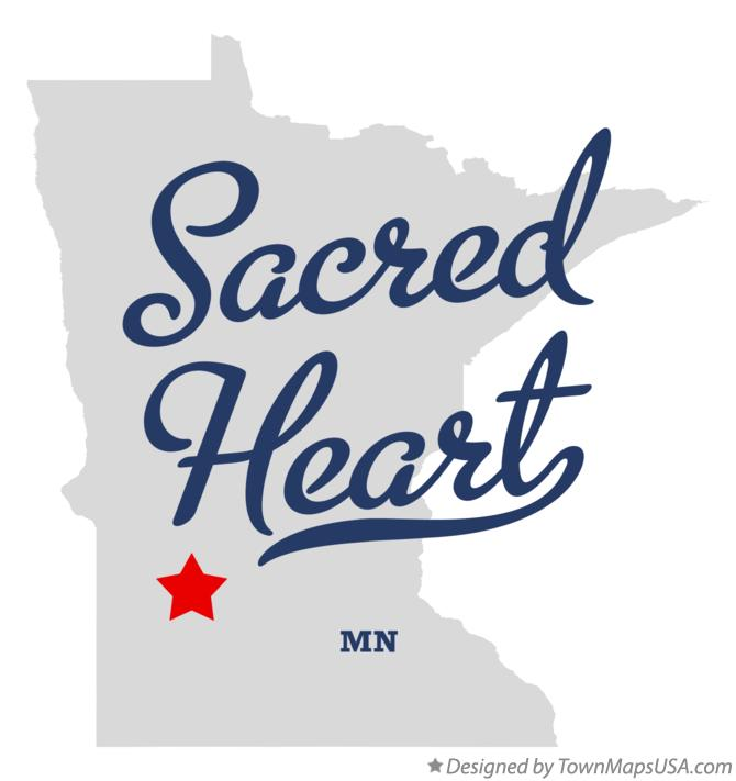 Map of Sacred Heart Minnesota MN