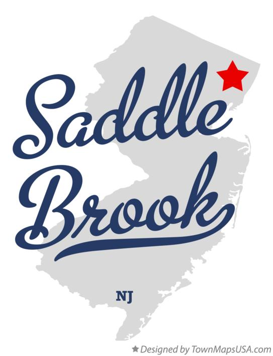 Map of Saddle Brook New Jersey NJ