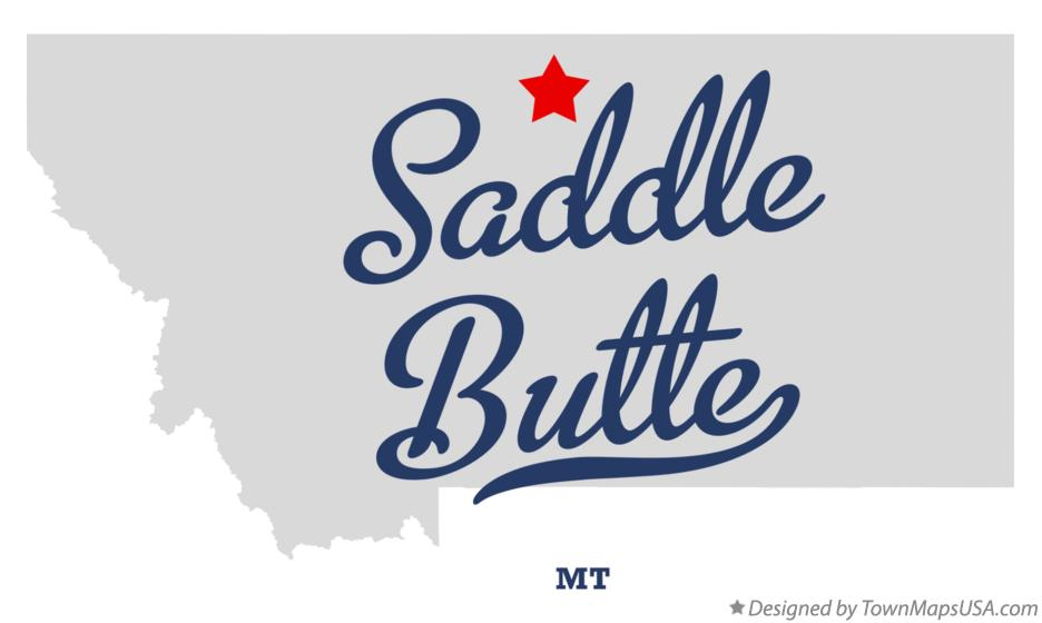 Map of Saddle Butte Montana MT