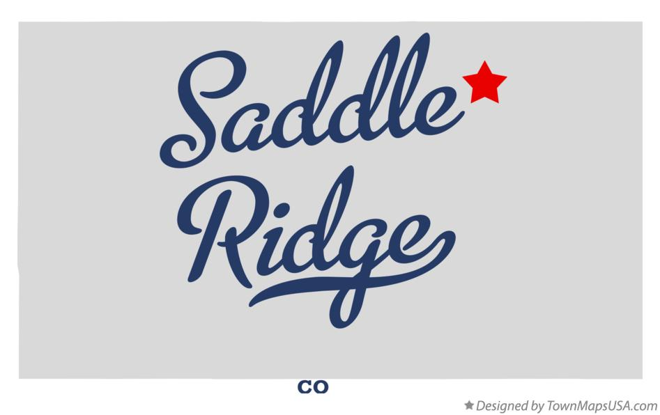 Map of Saddle Ridge Colorado CO