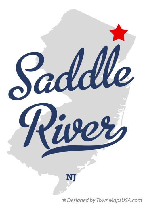 Map of Saddle River New Jersey NJ