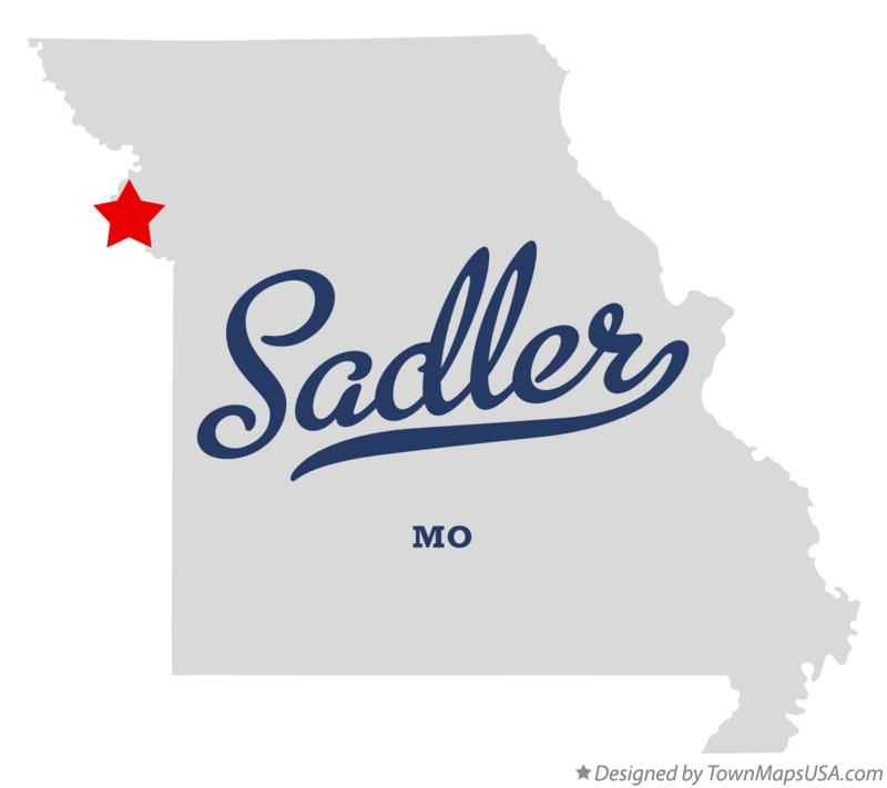 Map of Sadler Missouri MO