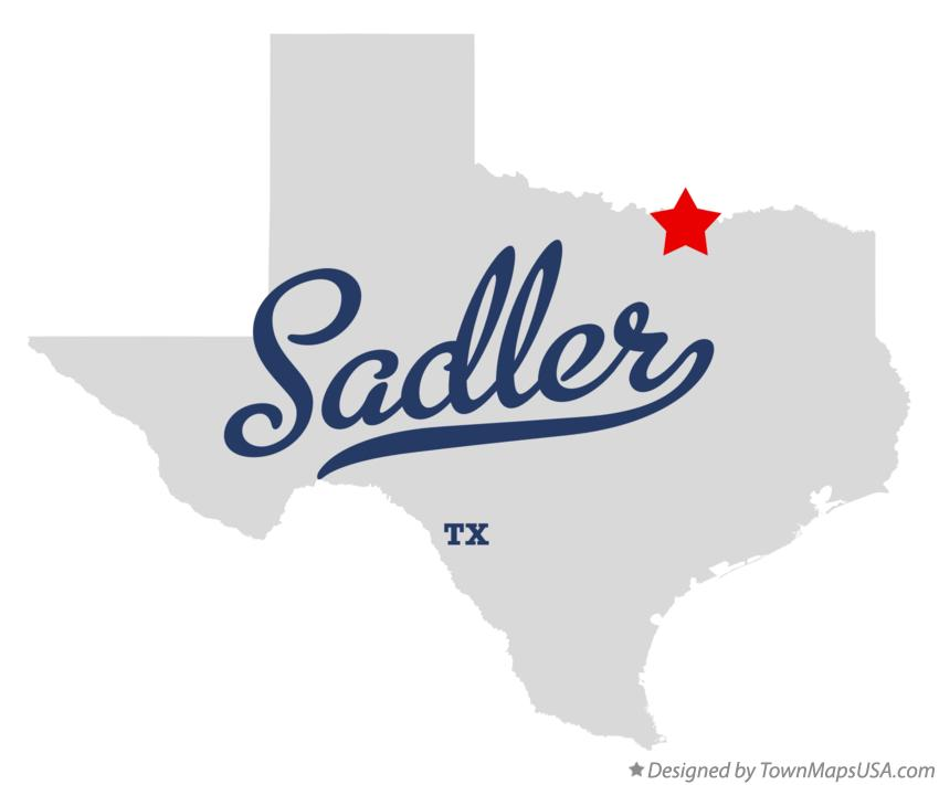 Map of Sadler Texas TX