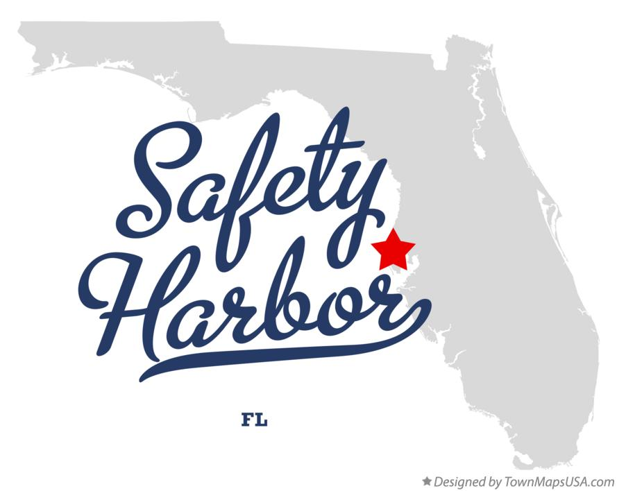 Map of Safety Harbor Florida FL