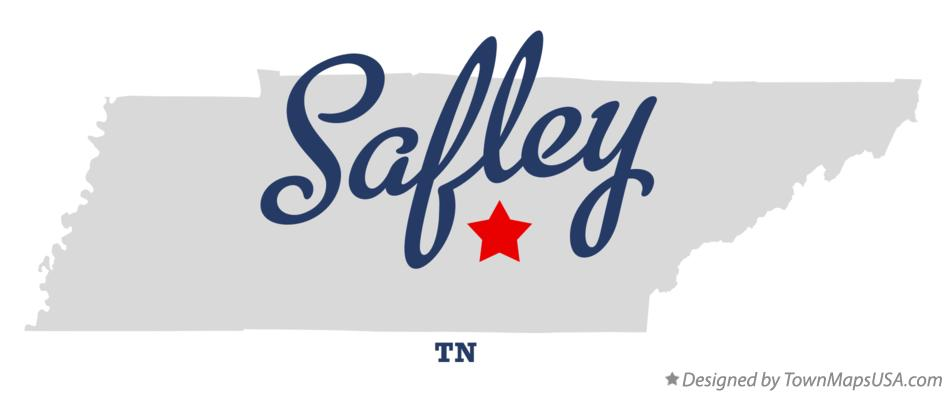 Map of Safley Tennessee TN