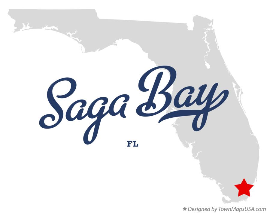 Map of Saga Bay Florida FL