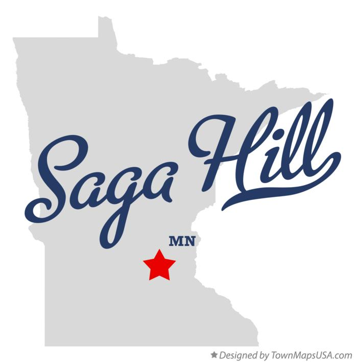 Map of Saga Hill Minnesota MN