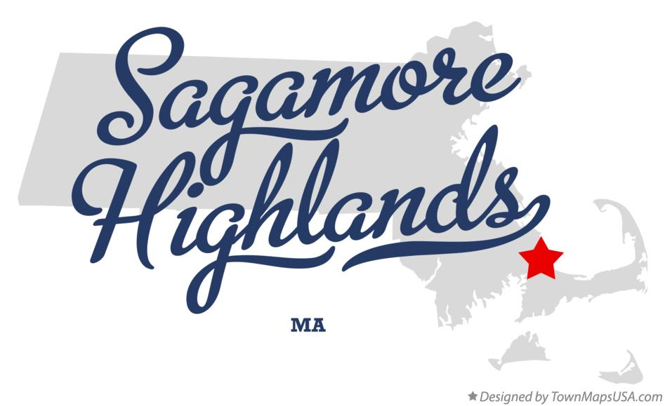 Map of Sagamore Highlands Massachusetts MA