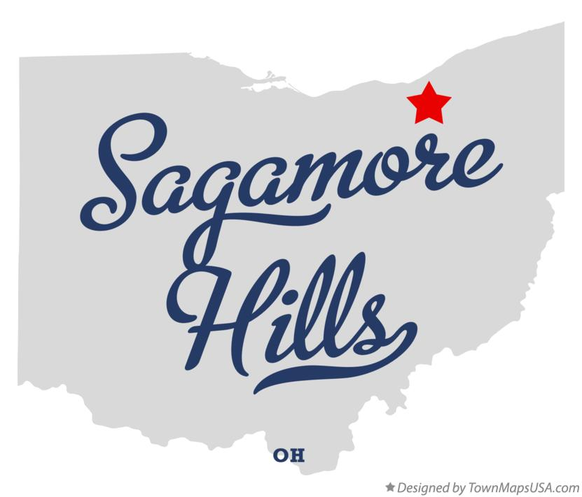 Map of Sagamore Hills Ohio OH