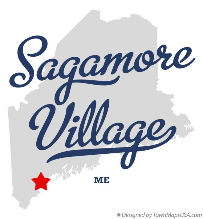 Map of Sagamore Village Maine ME