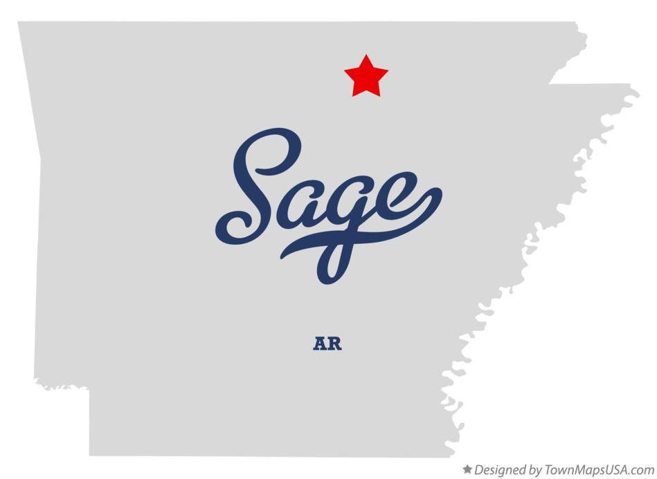 Map of Sage Arkansas AR