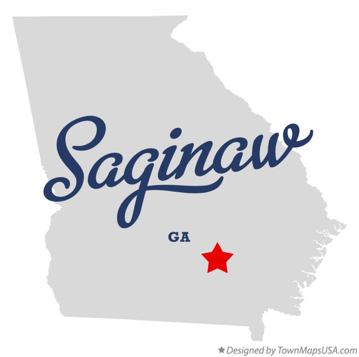 Map of Saginaw Georgia GA