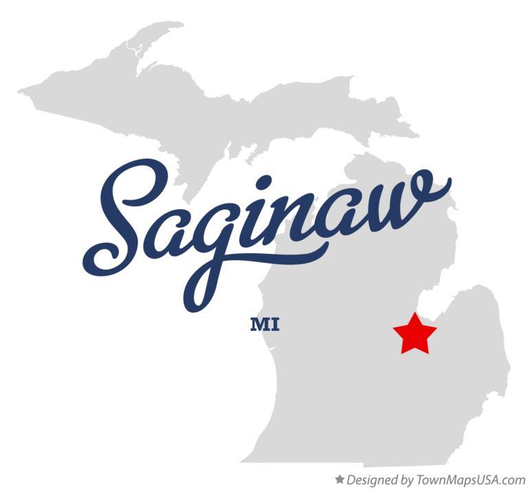 Map Of Saginaw Mi Michigan