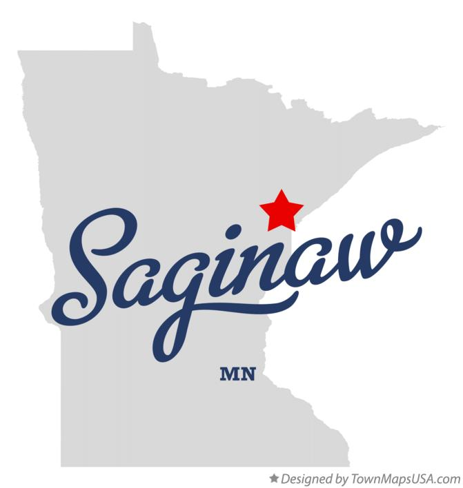 Map of Saginaw Minnesota MN