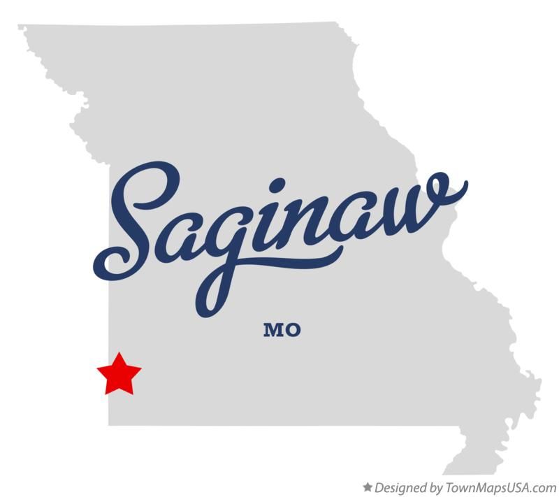 Map of Saginaw Missouri MO