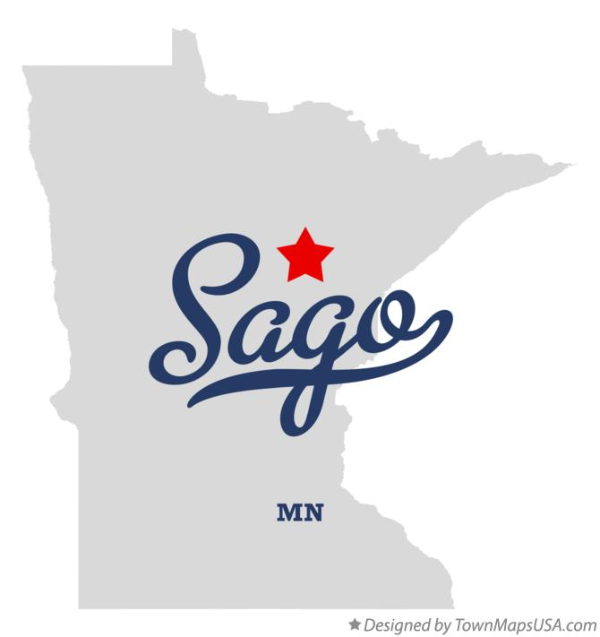 Map of Sago Minnesota MN