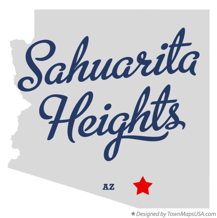 Map of Sahuarita Heights Arizona AZ