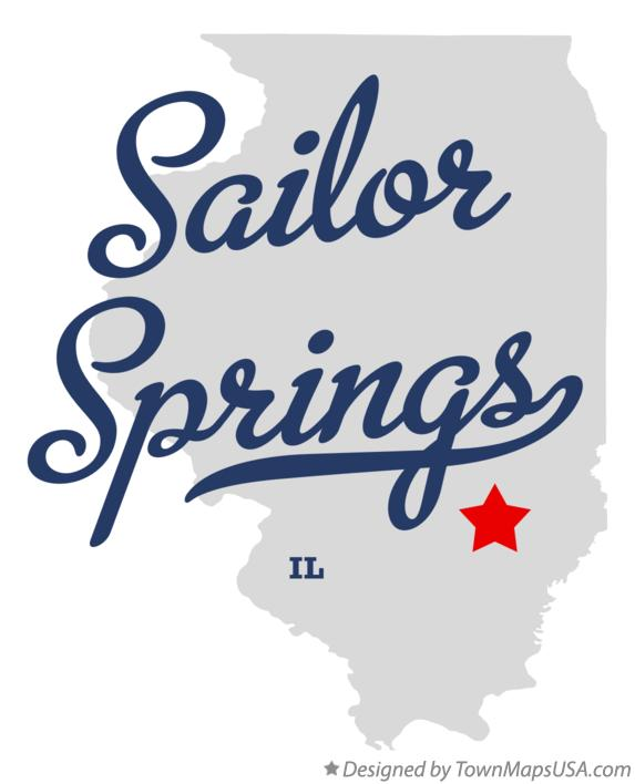 Map of Sailor Springs Illinois IL