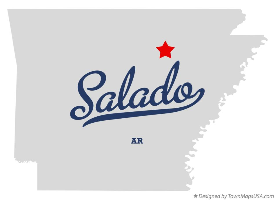 Map of Salado Arkansas AR